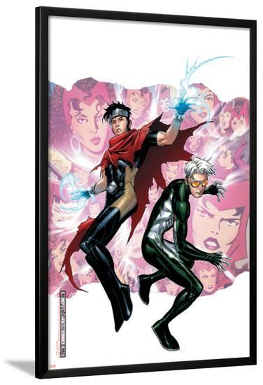 Young Avengers Presents No.3 Cover: Wiccan and Speed-Jim Cheung-Lamina Framed Poster