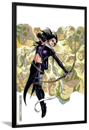 Young Avengers Presents No.6 Cover: Hawkeye-Jim Cheung-Lamina Framed Poster