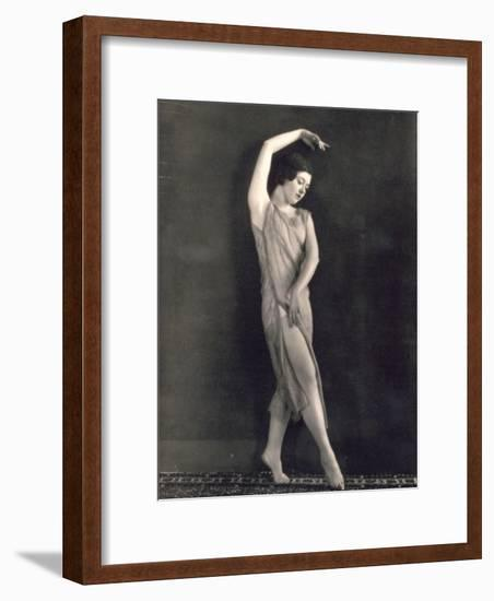 Young Ballet Dancer Portrayed While Dancing-Wanda Wulz-Framed Photographic Print