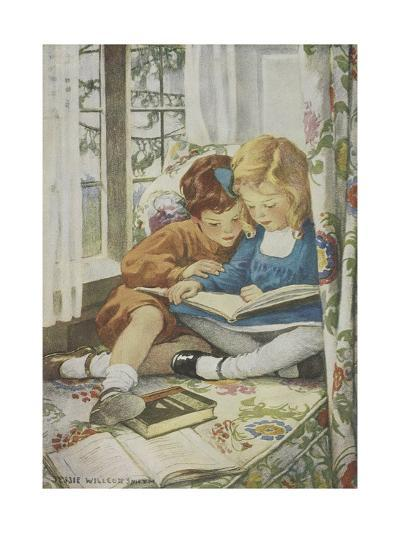 Young Boy and Girl-Jessie Willcox-Smith-Giclee Print