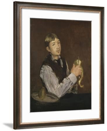 Young Boy Peeling a Pear, c.1867-Edouard Manet-Framed Giclee Print