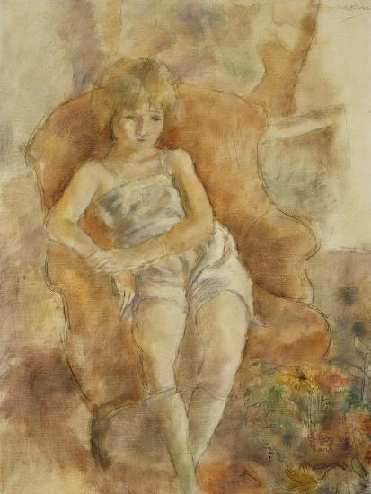 Young Boy Seated, Jeune Fils Assise-Jules Pascin-Giclee Print