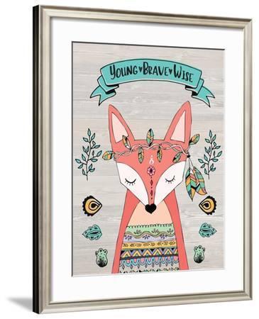 Young Brave Wise-Jo Moulton-Framed Art Print