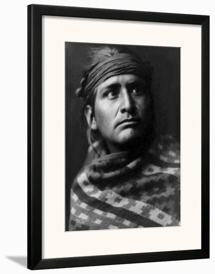 Young Brave-Edward S^ Curtis-Framed Giclee Print
