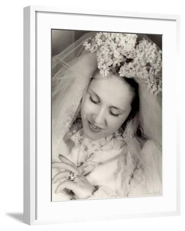 Young Bride--Framed Photographic Print