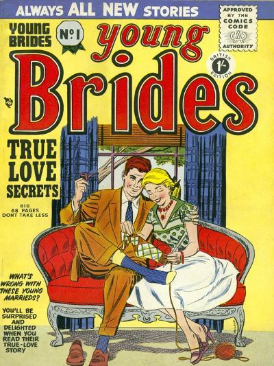 Young Brides, First Issue Weddings Marriages Brides Comics Magazine, UK, 1950--Giclee Print