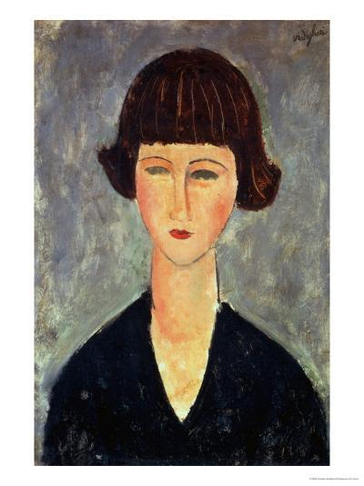 Young Brunette, 1917-Amedeo Modigliani-Giclee Print