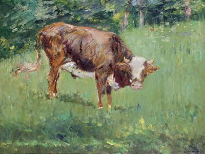 Young Bull in a Meadow, 1881-Edouard Manet-Giclee Print