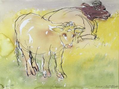 Young Bullocks in the Meadow, 1983-Brenda Brin Booker-Giclee Print