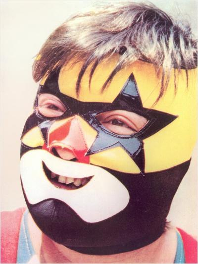Young Chubby Boy in Wrestling Mask--Art Print