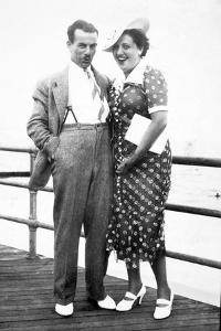 Young Couple Portrait on Boardwalk, Ca. 1929