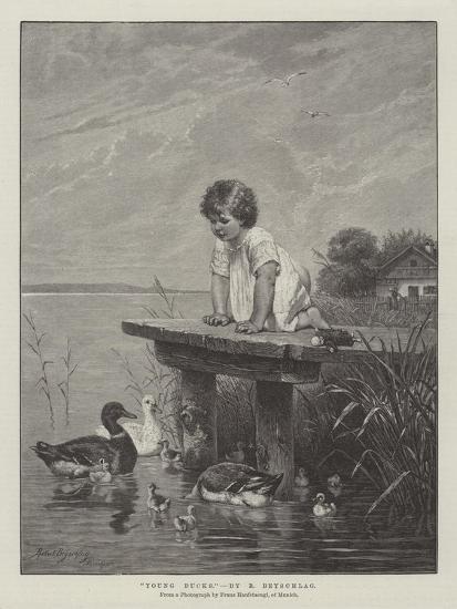 Young Ducks-Robert Julius Beyschlag-Giclee Print