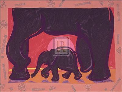 Young Elephant-Gerry Baptist-Art Print