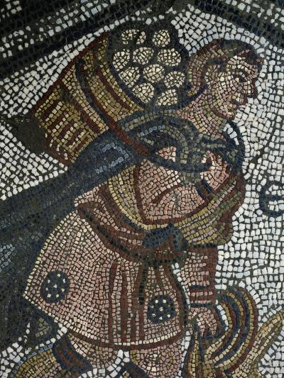 Young Farmer, Detail from Mosaic from Palace of Emperors of Byzantium--Giclee Print