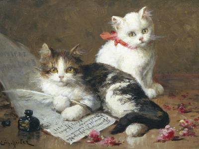 Young Feline Author-Leon Charles Huber-Giclee Print