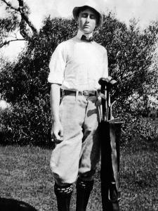 Young Franklin Roosevelt at on a Golf Course at Age 17, ca 1899