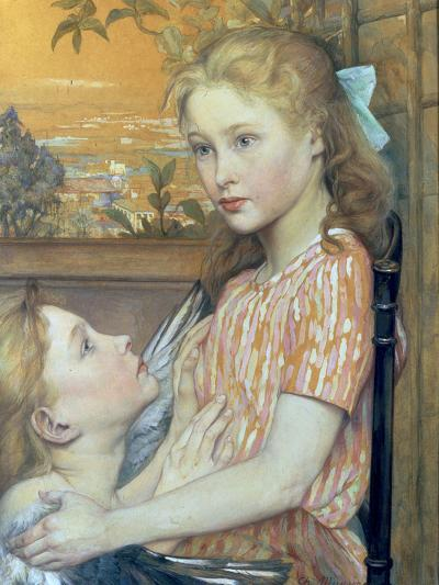 Young Girl and her Guardian Angel, 1894-Charles Maurin-Giclee Print