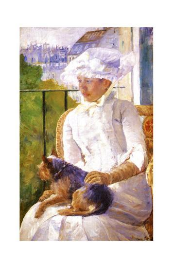 Young Girl at a Window-Mary Cassatt-Giclee Print