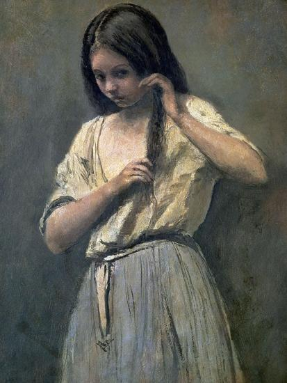 Young Girl at Her Toilet-Jean-Baptiste-Camille Corot-Giclee Print
