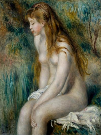 Young Girl Bathing, 1892-Pierre-Auguste Renoir-Giclee Print
