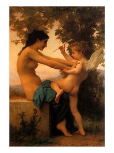 Young Girl Defending Herself Against Eros, 1880