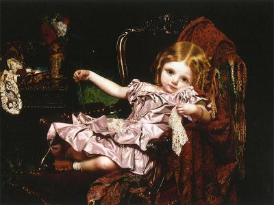 Young Girl in an Armchair, c.1850-Sophie Anderson-Giclee Print
