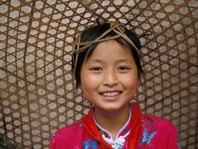 Young Girl Wearing a Straw Hat, Yangtze River, Less Three Gorges, China-Keren Su-Photographic Print