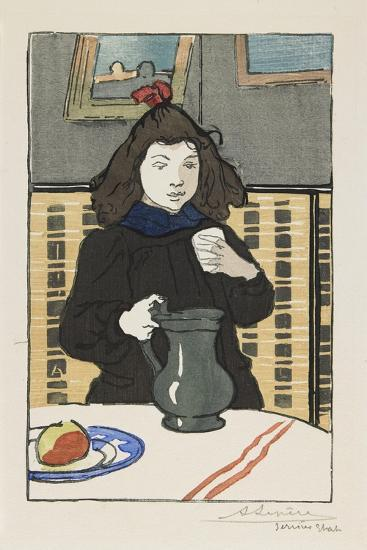Young Girl with a Pitcher, 1890-Auguste Lepere-Giclee Print