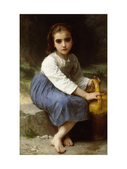 Young Girl with a Pitcher-William Adolphe Bouguereau-Giclee Print
