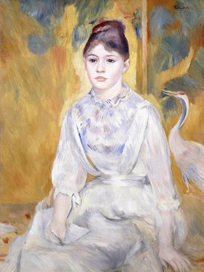 Young Girl with a Swan, 1886-Pierre-Auguste Renoir-Giclee Print