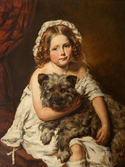 Young Girl with Her Dog--Giclee Print