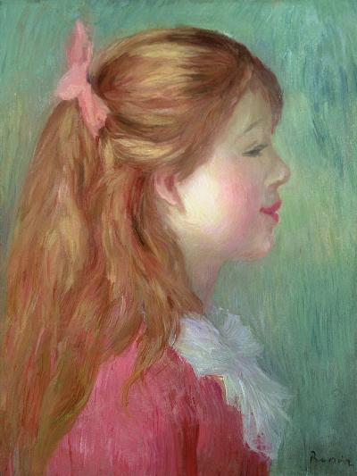 Young Girl with Long Hair in Profile, 1890-Pierre-Auguste Renoir-Giclee Print