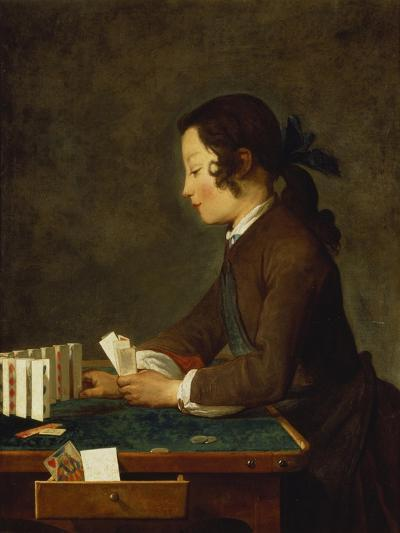 Young Girl (Young Boy?) Building a House of Cards-Jean-Baptiste Simeon Chardin-Giclee Print