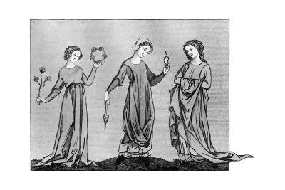 Young Girls, 13th Century--Giclee Print