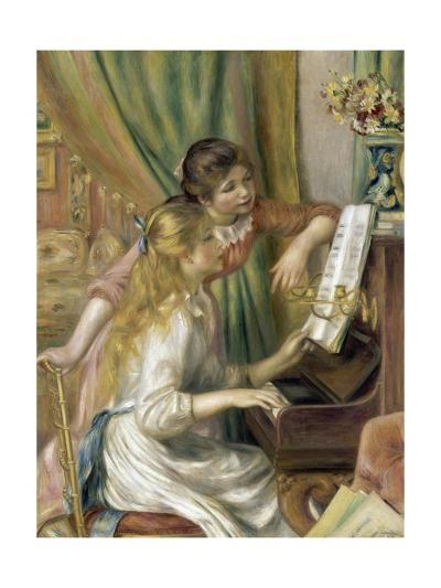 Young Girls at the Piano-Pierre-Auguste Renoir-Giclee Print