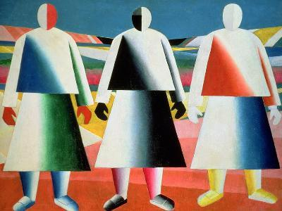 Young Girls in a Field, 1928-32-Kasimir Malevich-Giclee Print