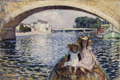 Young Girls on a Barge; Jeunes Filles En Barques, 1903-Henri Lebasque-Giclee Print