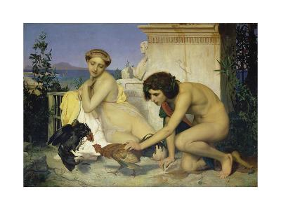 Young Greeks Encouraging Cocks to Fight, 1846-Jean-L?on G?rome-Giclee Print