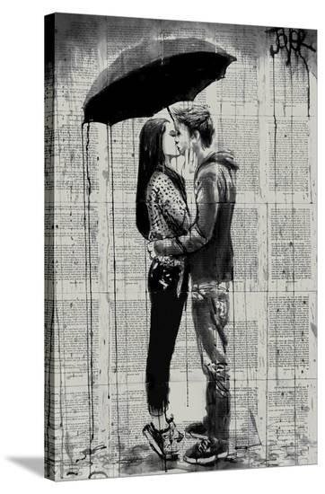 Young Hearts-Loui Jover-Stretched Canvas Print