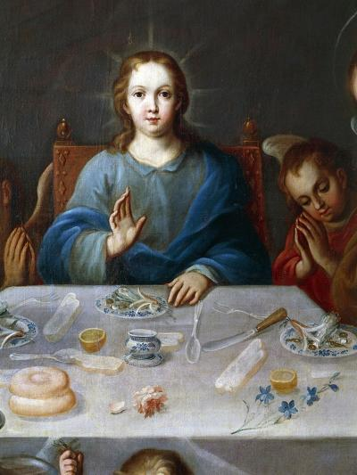 Young Jesus, Detail from the Blessing of the Food, Painting Attributed to Jose De Alcibar--Giclee Print