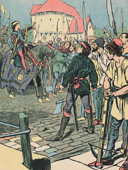 'Young King Richard Quells the Rebellion', c1907-Unknown-Giclee Print