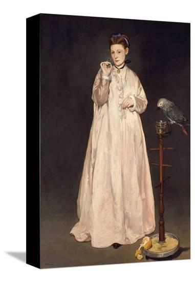 Young Lady in 1866-Edouard Manet-Stretched Canvas Print