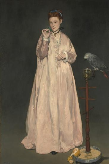 Young lady in 1866-Edouard Manet-Giclee Print