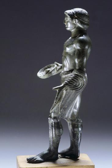 Young Male Praying, Bronze Figurinette from Monteacuto Ragazza--Giclee Print