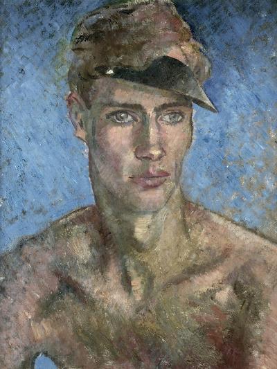 Young Man Wearing a Sun Visor-Glyn Warren Philpot-Giclee Print