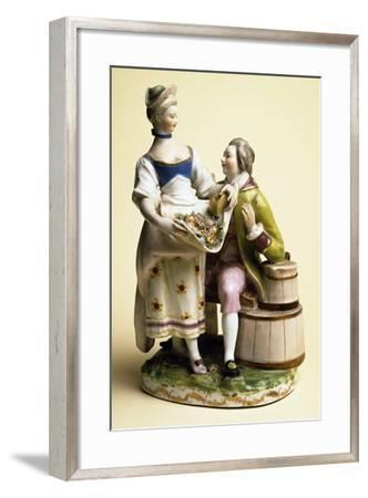 Young Man with Young Girl, Austria--Framed Photographic Print