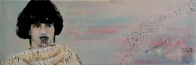 Young Maori Women with Cloak, 2015-Susan Adams-Giclee Print