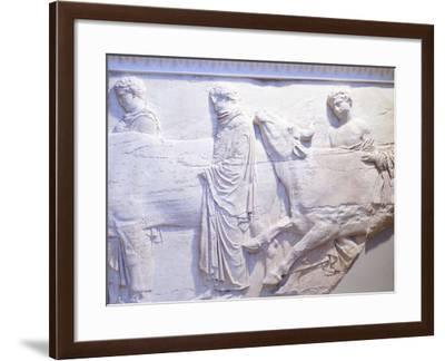 Young Men Leading Cows to Be Sacrificed, Fragment of Northern Frieze of Parthenon--Framed Photographic Print