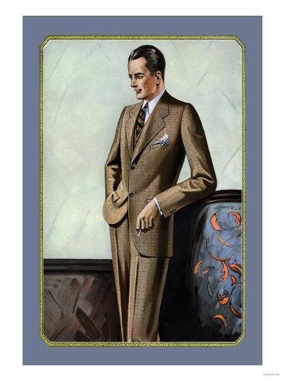 Young Men's Two-Button Sack--Art Print
