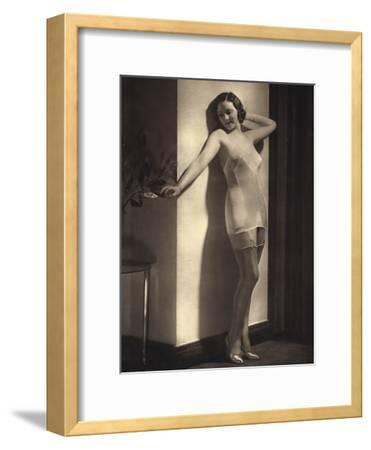 Young Model in Silky Underwear 1935